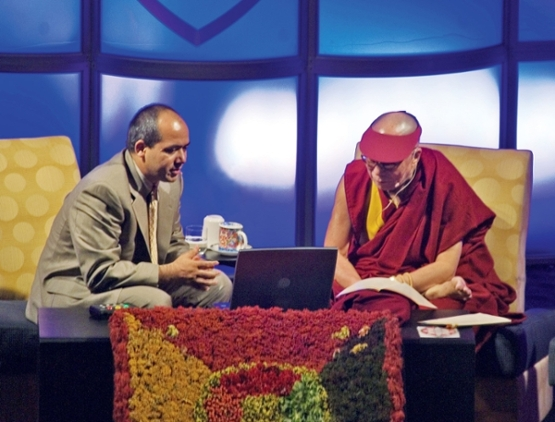 His Holiness the XXIV Dalai Lama and Geshe Lobsang Tenzin Negi